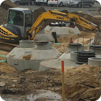 sewer drainage installation